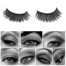 New 5 Pair 3D Black Multi-layer Handmade Natural Thick False Eyelashes Extention