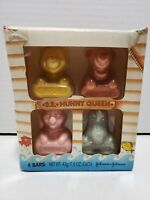 Vintage Disney Johnson's Pooh & Pals Sudsy Little Soaps SS Hunny Queen 4 Bars