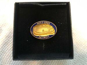 1984 DETROIT TIGERS WORLD SERIES PRESS PIN ORIGINAL