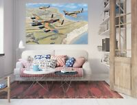3D Flugzeug Himmel ZHU307 Wandaufkleber Fototapeten Tapete Trevor Mitchell Amy