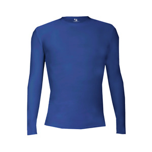 Badger Youth Pro-Compression Long Sleeve Crew ROYAL XL