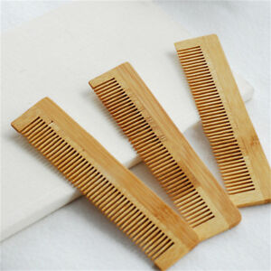 Flat Combs Hair Brushes Hotel Travel Disposable Natural Log Color Comb JH