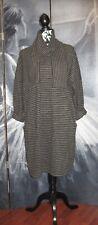 Lagenlook Green Striped Italian Fleece Boho Tulip Dress Tunic 14 16 18 20 22