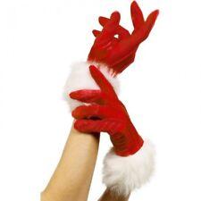 Ladies MISS SANTA GLOVES Christmas  Fancy Dress Costume Accessory