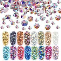 1440pcs Crystal Flat Back Acrylic Rhinestones Gems SS4-SS16 Nail Art/Craft