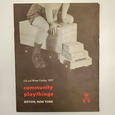 Vintage 1957 Community Playthings Catalog Wooden Toys