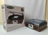 Jensen Vintage Style Turntable Record Player w/ built in Speakers + AM/FM Radio