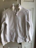 Womens Tommy Bahama pima cotton White Full zip up Jacket petite Size Small S/P