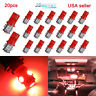 20xSuper Red T10 Wedge 5-SMD 5050 LED Light bulbs W5W 2825 158 192 168 194