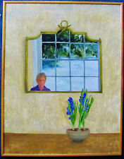 GILL SERGEANT - THE FLOWERS - ORIGINAL BRITISH PAINTING - 1988 - FREE SHIP IN US