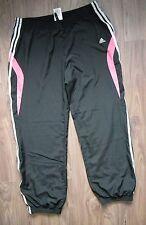 ADIDAS Women's Black Tracksuit Bottoms Trousers Gym Jogging Pants Size UK 18