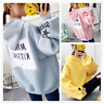 Womens Warm Hooded Sweatshrit Hoodies Ladies Winter Oversized Tops Pullover