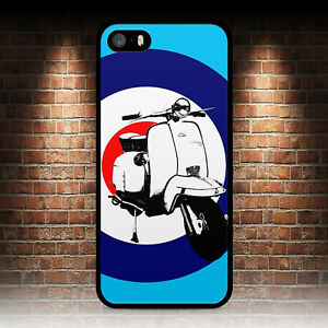 MOD SCOOTER BLUE 4 PHONE CASE FOR IPHONE 4S 5 5S SE 5C 6 6S 7 8 PLUS X XR MAX 11