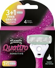 Lames de Rasoir pour Femme Wilkinson Sword quattro for Women Sensitive.