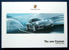Prospekt brochure 2013 new Porsche Cayman (USA)