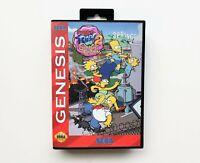 Simpsons in Streets of Rage 2 Game Sega Genesis Bart Homer Marge Liza USA Seller