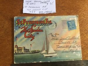 Colour Postcard Folder St Petersburg Florida 1947