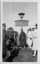 """Photo 1903 North Korea """"Japanese Soldiers & Korean Citizens by Border Sign"""""""