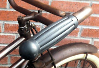 """Ball End Grips for vintage bicycles, cruisers, rat rods, NEW 7/8"""" bars BLACK USA"""