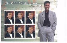 Sir Cliff Richard OBE Entertainment Star Souvenir Stamp Sheet #2304 Antigua E43