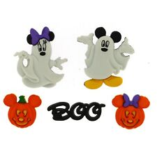 Disney Mickey & Minnie Ghosts - Halloween Buttons - Spooky Embellishment