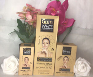 Gluta White Glutathione Whitening Lotion, Serum & Soap Set