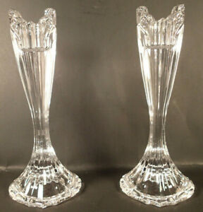 (2) Lead Crystal Candlestick Holders