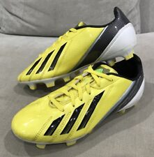 ADIDAS Mens F50 Soccer FOOTBALL Boots US 6 Cleats Yellow Like New