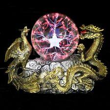 Plasma Dragon Magic Thunder Lightning Ball Globe Lamp Light Electricity Effect