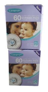 lansinoh disposable nursing pads, 60 pads x 2