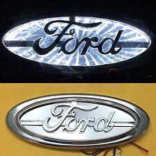 3D LED Car Logo Light White Auto Badge Rear Emblems Lamp For Ford Escort Edge