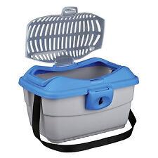 Trixie Mini-Capri Transport Box, 40 × 22 × 30 Cm, Light Grey/blue TX39802