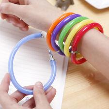 5pcs Mixed Bulk Novelty BallPoint Pens Bangle Bracelet Wristband Flexible Pen