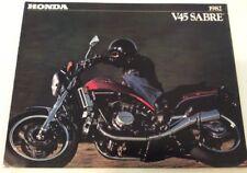 1982 HONDA V45 SABRE MOTORCYCLE brochure