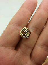 14k Yellow Gold Classic Wire Love Knot Stud Earrings 11mm