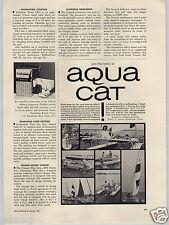 1962 PAPER AD Aqua Cat Catamaran Sailboat Fiberglass Hull Roof Top
