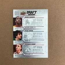 2009-10 Upper Deck Draft Edition James Harden Ricky Rubio Stephen Curry RC