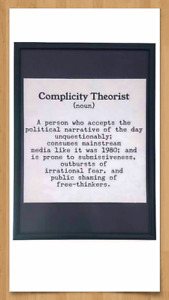 'Complicity Theorist' A3 Print & Frame Conspiracy Theory