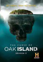 THE CURSE OF OAK ISLAND - SEASON 3  -  DVD - Region 2 UK Compatible - Sealed