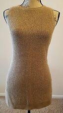 Ralph Lauren Women Sleeveless Metallic Gold Knit Tunic Sweater Sz L THESPOT917