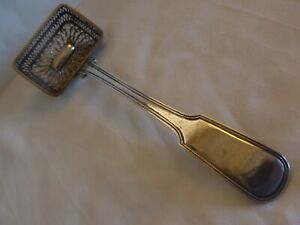 C.1830  FILIGREE STERLING SILVER SERVING LADLE BY J.F.NICOLASSEN HAMBURG GERMANY