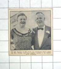 1955 New York Travel Agent Bill Thomas With Wife