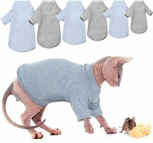 Hairless Cats Vest Turtleneck Sweater, Breathable Adorable Cat Wear Shirt Clothe