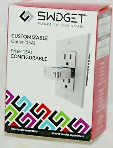 Swidget Customizable Modular Smart Outlet 15A Wi-Fi Z-Wave ZigBee Alexa Google