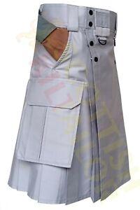 2021 SALE Light Grey Tactical Duty Kilt Regular Size And Custom Size Kilts