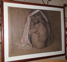 Francisco Zúñiga / Pastel & Crayon on Paper / Mujer Sentada con Rebozo, 1974