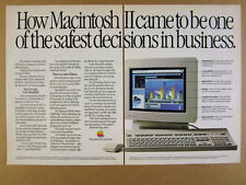 1988 Apple MAC Macintosh II 2 Computer monitor keyboard photo vintage print Ad