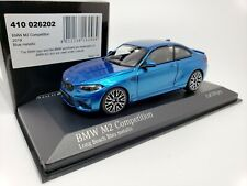 1:43 Minichamps BMW M2 Competition Coupe F87 2019 M 2 Series F22 Blue Metallic