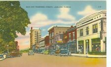 FLORIDA, LAKELAND MAIN AND TENNESSEE STREETS LINEN #L-O (FL-L)