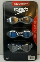 Speedo 3 Pack Adult Swimming Goggles Anti Fog UV Protect Latex Free Easy Adjust